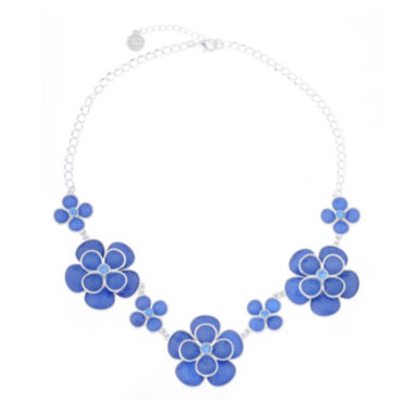 jcpenney.com | Liz Claiborne® Blue and Silver-Tone Collar Necklace