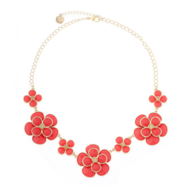 jcpenney.com | Liz Claiborne® Orange and Gold-Tone Collar Necklace