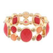 Liz Claiborne® Orange Stone and Gold-Tone Stretch Bracelet