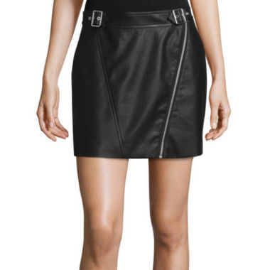 jcpenney.com | Decree® Buckle-Front Pleather Skirt