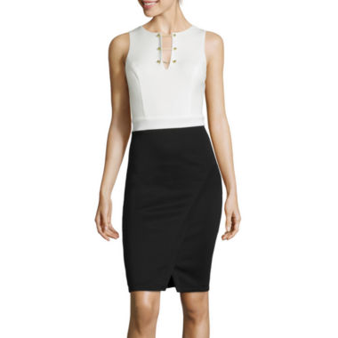 jcpenney.com | Bisou Bisou® Sleeveless Hardware-Neck Dress