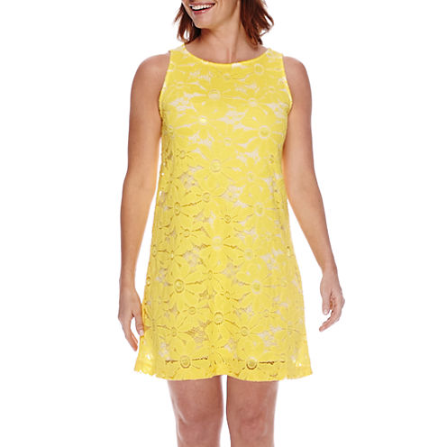 Tiana B. Sleeveless Sunflower Lace A-Line Dress - Petite