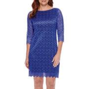 Tiana B. 3/4-Sleeve Lace Sheath Dress