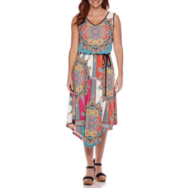 jcpenney.com | London Style Collection Sleeveless Floral Blouson Maxi Dress - Petite