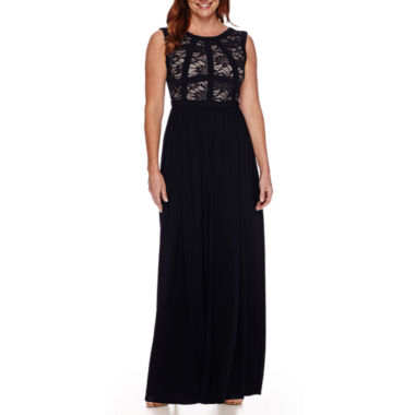 jcpenney.com | R&M Richards Sleeveless Lace Gown - Petite