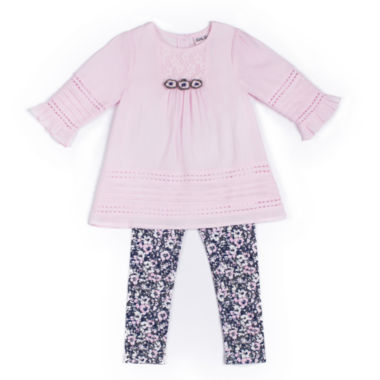 jcpenney.com | Little Lass® 2-pc. Blush Leggings Set - Baby Girls newborn-24m