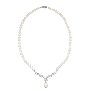 jcpenney.com | Cultured Freshwater Pearl Sterling Silver Necklace