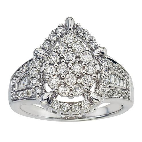 1 CT. T.W. Certified Diamond 14K White Gold Ring