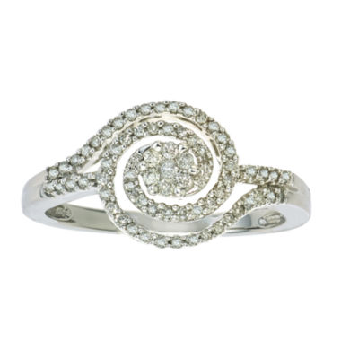 jcpenney.com | diamond blossom 1/4 CT. T.W. 10K White Gold Ring
