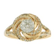 1/2 CT. T.W. Diamond 10K Yellow Gold Ring