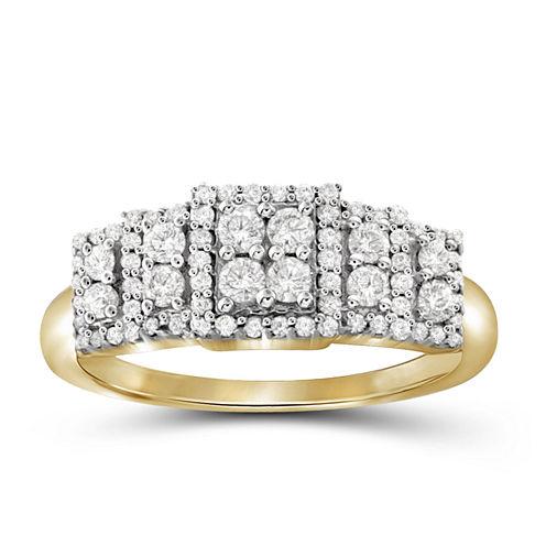 1/2 CT. T.W. Diamond 10K Yellow Gold Ring