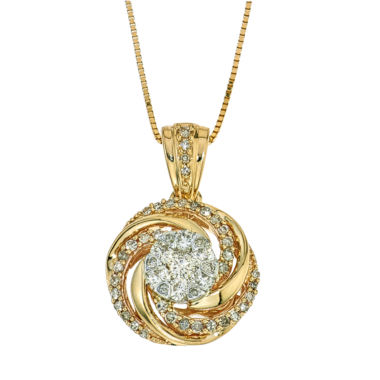 jcpenney.com | 1/2 CT. T.W. Diamond 10K Yellow Gold Pendant Necklace