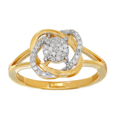 jcpenney.com | 1/6 CT. T.W. Diamond 10K Yellow Gold Ring