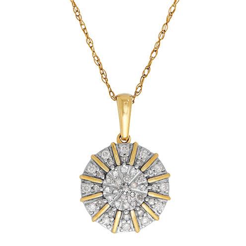 1/4 CT. T.W. Diamond 10K Yellow Gold Pendant
