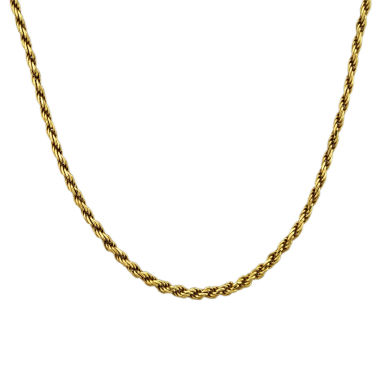 "jcpenney.com | Mens 18K Yellow Gold Over Silver 20"" Rope Chain Necklace"