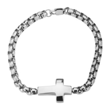 jcpenney.com | Inox® Jewelry Mens Stainless Steel Chain Cross Bracelet