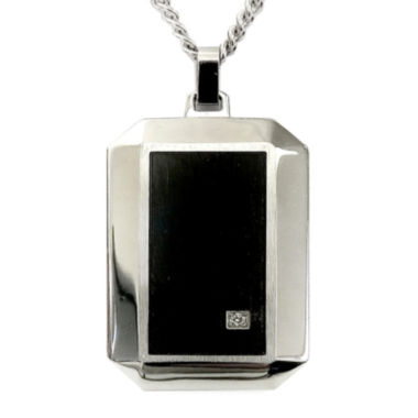 jcpenney.com | Mens Diamond Accent Two-Tone Stainless Steel Pendant