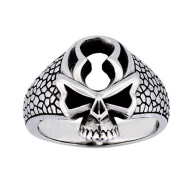 jcpenney.com | Mens Stainless Steel Skull Ring
