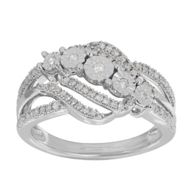 jcpenney.com | 1/4 CT. T.W. Diamond Sterling Silver Ring