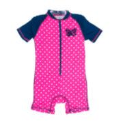 Wippette 1-pc. Zebra Swimsuit - Baby Girls newborn-24m