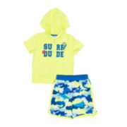 Wippette 2-pc. Surf Dude Swim Trunk Set - Baby Boys newborn-24m