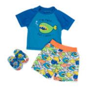 Wippette 3-pc. Fish Swim Trunk Set - Baby Boys newborn-24m
