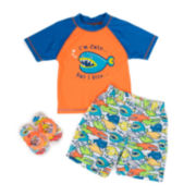 Wippette 3-pc. Fish Swim Trunk Set - Baby Boys newborn-24m