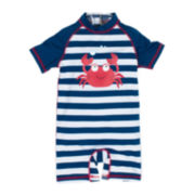 Wippette 1-pc. Stripe Crab Swimsuit - Baby Boys newborn-24m