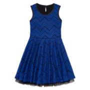 Total Girl® Sleeveless Lace Skater Dress - Girls 7-16