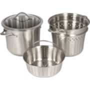 Calphalon Contemporary Stainless Steel 8-qt. Covered Pot with Insert & Steamer