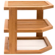 Lipper International Bamboo Three-Tier Corner Shelf