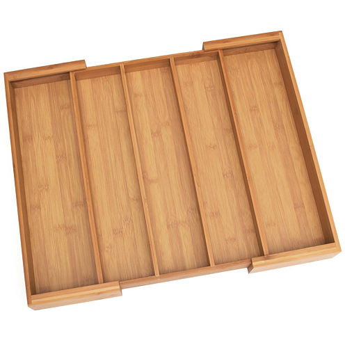 Lipper International Bamboo Expandable Utensil Holder