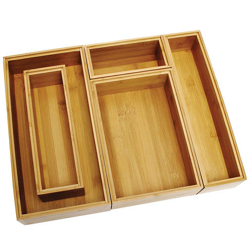 Lipper International Bamboo 5-pc. Organizing Box Set