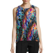 nicole by Nicole Miller® Sleeveless Pleated Top