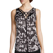 nicole by Nicole Miller® Self Trim Tank Top