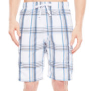 U.S. Polo Assn.® Basic Plaid Cargo Swim Shorts