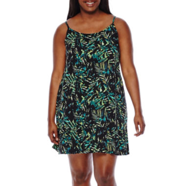 jcpenney.com | Decree® Sleeveless Drop Waist Slip Dress - Juniors Plus