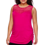 Bisou® Sleeveless Crochet Knit Top - Plus