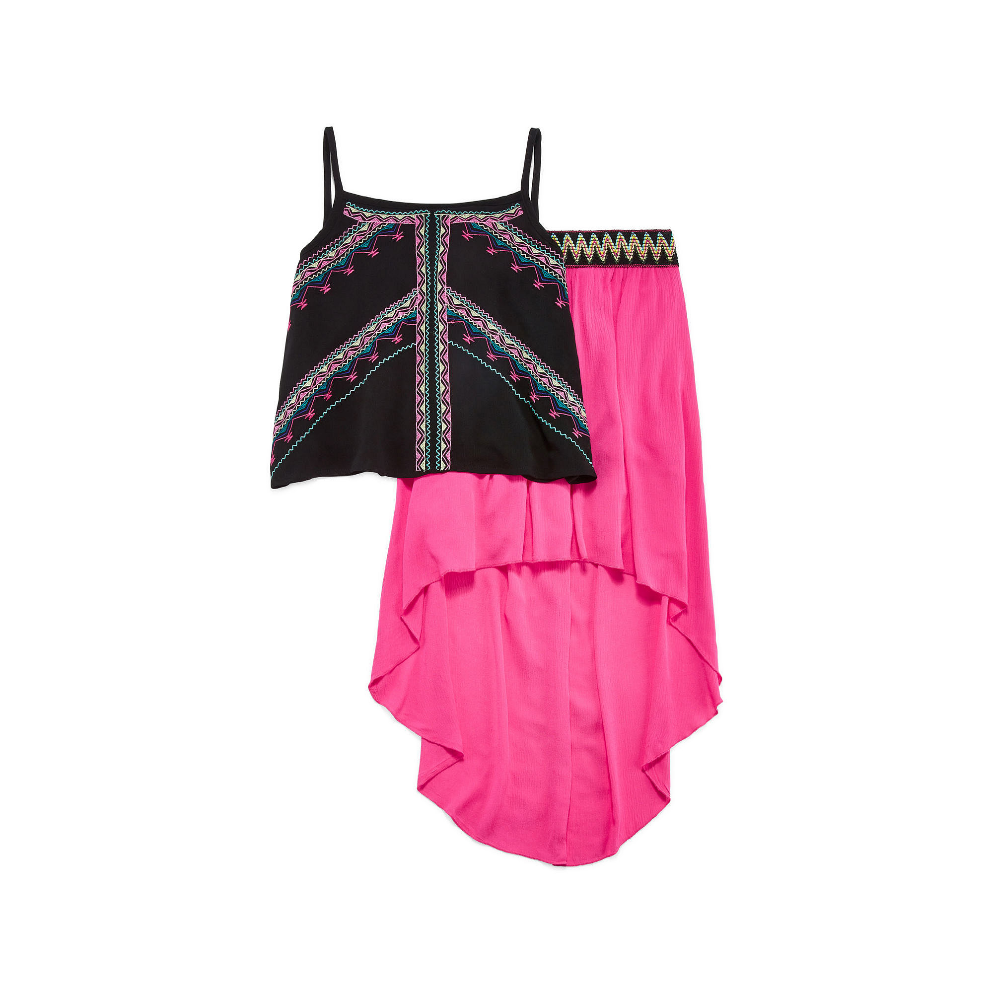 Beautees 2-pc. Tank Top and Skirt Set - Girls 7-16 plus size,  plus size fashion plus size appare