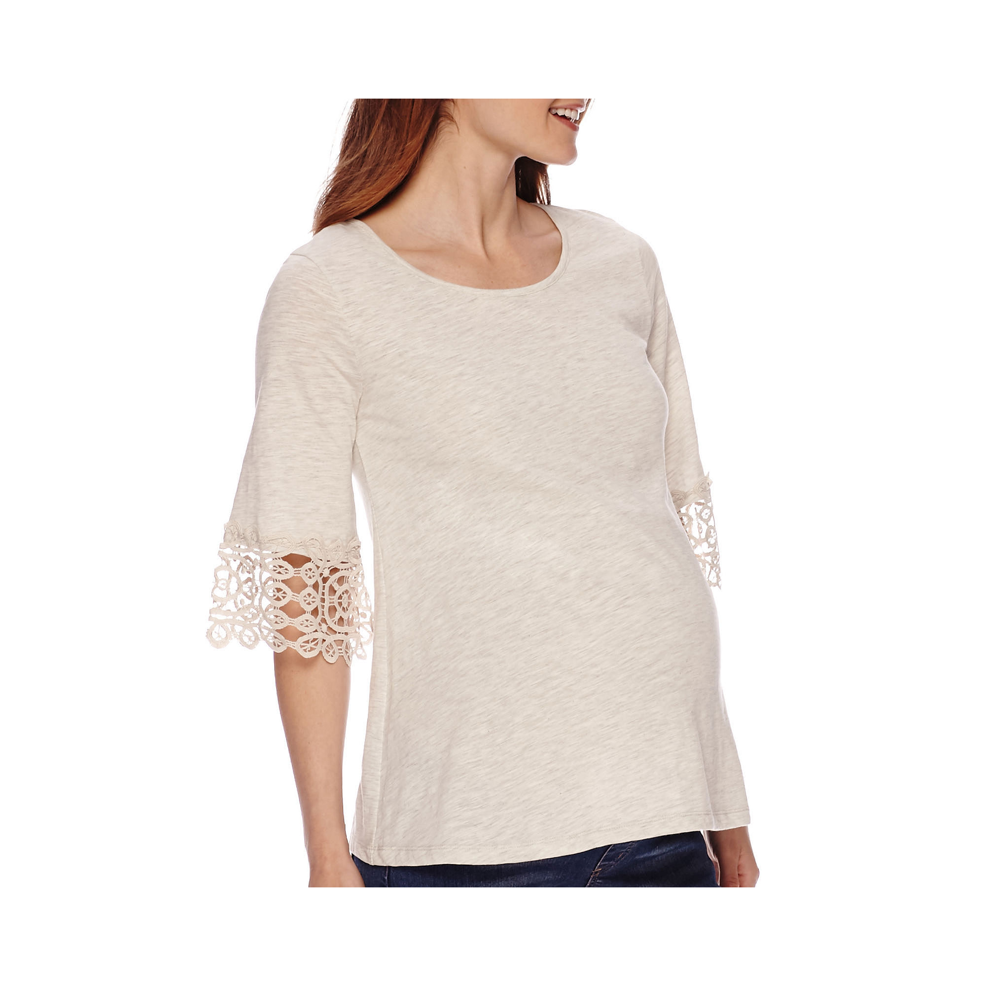 Maternity Crochet Cuff High Top-Plus plus size,  plus size fashion plus size appare