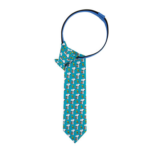 Peanuts Snoopy with Basket Pre-Tied Zipper Tie - Boys