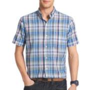 IZOD® Short-Sleeve Chambray Woven Shirt