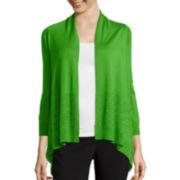 Worthington® Long-Sleeve Open-Front Flyaway Cardigan