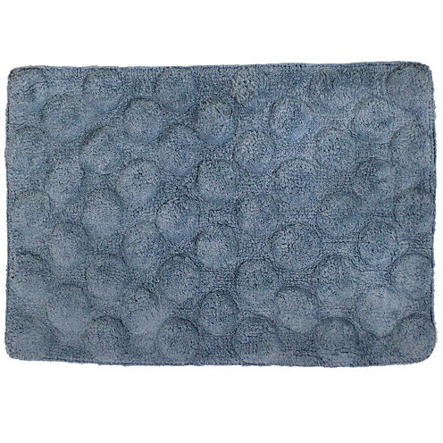 Homewear Linens Sculpted Dots Bath Rug