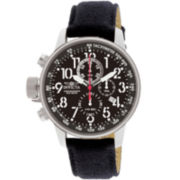Invicta® Lefty Chronograph Mens Black Watch