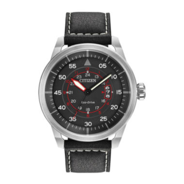 jcpenney.com | Citizen® Eco-Drive® Mens Black Leather Watch AW1361-01E