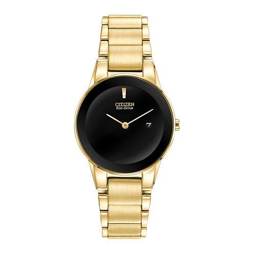 Citizen® Eco-Drive® Axiom Womens Gold-Tone Watch GA1052-55E