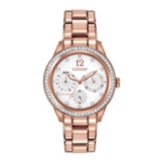 Citizen® Eco-Drive™ Womens Rose-Tone Multifunction Watch FD2013-50A