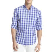 IZOD® Long-Sleeve Lightweight Plaid Shirt