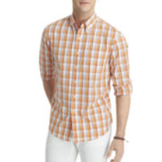 IZOD® Long-Sleeve Lightweight Plaid Shirt